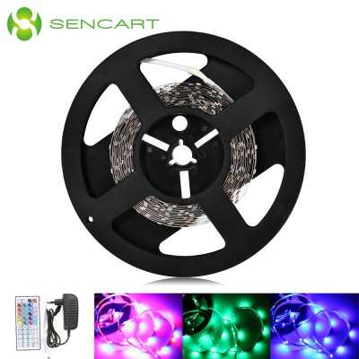 SENCART RGB Rope Light SetLED Strips<br>SENCART RGB Rope Light Set<br><br>Actual Lumens: 23 - 25Lm / LED<br>Brand: Sencart<br>Connector Type: US plug, EU plug<br>Features: Low Power Consumption, Cuttable<br>Input Voltage: DC12<br>LED Type: SMD-5630<br>Length: 5m<br>Number of LEDs: 300<br>Optional Light Color: RGB<br>Package Contents: 1 x SENCART LED Light Strip, 1 x Controller, 1 x Remote Controller ( with 1 x Button Battery ), 1 x Adapter<br>Package size (L x W x H): 23.70 x 21.30 x 6.50 cm / 9.33 x 8.39 x 2.56 inches<br>Package weight: 0.2200 kg<br>Product size (L x W x H): 16.70 x 16.70 x 1.10 cm / 6.57 x 6.57 x 0.43 inches<br>Product weight: 0.0710 kg<br>Rated Power (W): 90W<br>Type: LED Strip