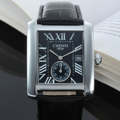 CHENXI 063A Fashion Men Small Dial Quartz Watch