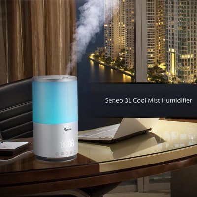 Seneo 3L Ultrasonic Cool Mist Humidifier for Home Office