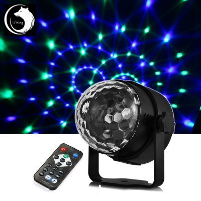 UKing ZQ - B10 6W Remote Control LED Stage Light RGB Effect Lighting