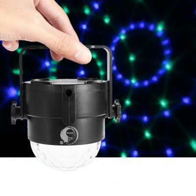 UKing ZQ - B14 Mini Crystal Ball LightStage Lighting<br>UKing ZQ - B14 Mini Crystal Ball Light<br><br>Brand: UKing<br>Model: ZQ-B14<br>Type: LED Effects Stage Light<br>Total Emitters: 3<br>Laser Color: RGB Light<br>Beam Distance (m): 30-40<br>Illumination Field (sq.m.): 40-60<br>Output Power (W): 6W<br>Voltage Type: DC 5V<br>Lifespan (hour): 10000h<br>Function: For Decoration,For party<br>Shape: Ball Light<br>Body Color: Black<br>Material: ABS<br>Product weight: 0.144 kg<br>Package weight: 0.290 kg<br>Product Size(L x W x H): 10.00 x 8.50 x 8.50 cm / 3.94 x 3.35 x 3.35 inches<br>Package size (L x W x H): 11.00 x 10.00 x 11.50 cm / 4.33 x 3.94 x 4.53 inches<br>Package Contents: 1 x LED Stage Light, 1 x USB Cable, 1 x English Manual, 1 x Suction Cup