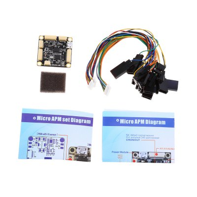 Holybro 8-bit Micro APM Flight Controller Combo SetFlight Controller<br>Holybro 8-bit Micro APM Flight Controller Combo Set<br><br>Brand: Holybro<br>Type: Flight Controller Set<br>Package weight: 0.225 kg<br>Package size (L x W x H): 12.30 x 8.30 x 5.10 cm / 4.84 x 3.27 x 2.01 inches<br>Package Contents: 1 x Micro APM Flight Controller, 1 x Radio Telemetry Set, 1 x GPS Compass Module, 1 x Micro OSD, 1 x Power Module, 1 x USB Cable, 1 x Android OTG Adaptor Cable, 1 x Pack of Accessories, 1 x Set of Eng