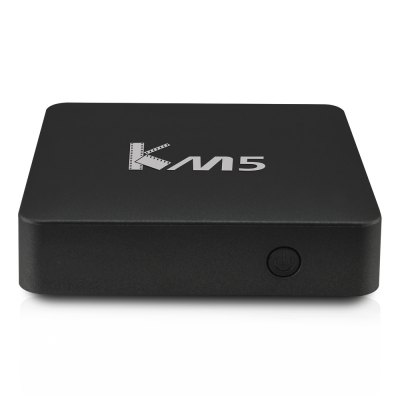 KM5 Quad Core Amlogic S905X Android HD Box for TVTV Box &amp; Mini PC<br>KM5 Quad Core Amlogic S905X Android HD Box for TV<br><br>5G WiFi: No<br>Audio format: APE, WMA, WAV, TrueHD, OGG, MP3, HD, FLAC, DDP, AAC<br>Color: Black<br>Core: Quad Core, 2.0GHz<br>CPU: Amlogic S905X<br>Decoder Format: Xvid/DivX3/4/5/6, RM/RMVB, RealVideo8/9/10, HD AVC/VC-1, H.265/AVC, HD MPEG1/2/4<br>External Subtitle Supported: No<br>GPU: Mali-450<br>HDMI Version: 2.0<br>Interface: USB2.0, DC Power Port, RJ45, 3.5mm Audio, HDMI, Micro SD Card Slot<br>Language: Multi-language<br>Model: KM5<br>Other Functions: Others<br>Package Contents: 1 x KM5 TV Box, 1 x Remote Control, 1 x HDMI Cable, 1 x Power Adapter, 1 x English Manual<br>Package size (L x W x H): 17.80 x 10.60 x 6.40 cm / 7.01 x 4.17 x 2.52 inches<br>Package weight: 0.3860 kg<br>Photo Format: TIFF, PNG, JPG, JPEG, GIF, BMP<br>Power Adapter Output: 5V 2A<br>Power Supply: Charge Adapter<br>Power Type: External Power Adapter Mode<br>Product size (L x W x H): 9.80 x 9.80 x 2.60 cm / 3.86 x 3.86 x 1.02 inches<br>Product weight: 0.1040 kg<br>RAM: 1G<br>RAM Type: DDR3<br>ROM: 8G<br>Support 5.1 Surround Sound Output: No<br>System: Android 6.0<br>System Bit: 64Bit<br>Type: TV Box<br>Video format: ASF, VOB, TS, RM, MPG, MPEG, MOV, MKV, RMVB, FLV, DAT, AVI, WMV<br>WIFI: 802.11b/g/n