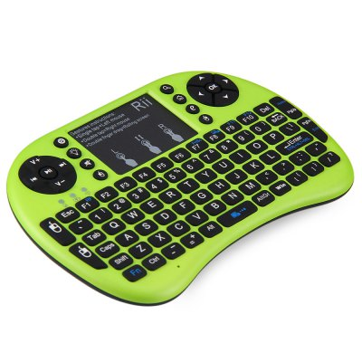 Rii i8+ Multi - function 2.4GHz Wireless Touchpad QWERTY Keyboard for Android BoxAir Mouse<br>Rii i8+ Multi - function 2.4GHz Wireless Touchpad QWERTY Keyboard for Android Box<br><br>Brand: RII<br>Cable Length (m): 0.8 m<br>Color: Black,Blue,Green,Orange,White<br>Connection: USB2.0<br>Features: Mini, Rechargeable<br>Interface: Wireless<br>Model: i8+<br>Operating voltage: 3.3V<br>Operation Current: 15mA<br>Package Contents: 1 x Keyboard, 1 x Receiver, 1 x USB Cable, 1 x User Manual<br>Package size (L x W x H): 18.00 x 10.50 x 2.50 cm / 7.09 x 4.13 x 0.98 inches<br>Package weight: 0.1850 kg<br>Power Supply: Li-ion Battery<br>Product size (L x W x H): 14.70 x 9.80 x 1.90 cm / 5.79 x 3.86 x 0.75 inches<br>Product weight: 0.0950 kg<br>System support: Windows Vista, Android, Linux, Windows 2000, Windows 7, Windows 8, Windows XP<br>Transmit Range: 10 m<br>Type: Keyboard