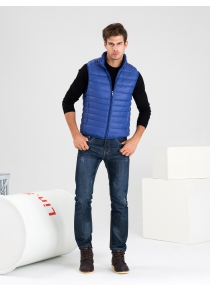 Stand-up Collar Down Vest For Men