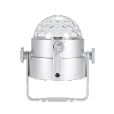 UKing ZQ - B16 RGBW Crystal Ball LightStage Lighting<br>UKing ZQ - B16 RGBW Crystal Ball Light<br><br>Brand: UKing<br>Model: ZQ-B16<br>Type: LED Effects Stage Light<br>Total Emitters: 4<br>Laser Color: RGBW<br>Beam Distance (m): 50-60<br>Illumination Field (sq.m.): 60-80<br>Number of Batteries: 800mAh Li-polymer battery<br>Output Power (W): 8W<br>Voltage Type: DC 5V<br>Lifespan (hour): 10000h<br>Function: For Decoration,For party<br>Shape: Ball Light<br>Body Color: Black,Orange,Silver<br>Material: ABS<br>Product weight: 0.143 kg<br>Package weight: 0.246 kg<br>Product Size(L x W x H): 10.00 x 8.50 x 8.50 cm / 3.94 x 3.35 x 3.35 inches<br>Package size (L x W x H): 11.00 x 10.00 x 12.00 cm / 4.33 x 3.94 x 4.72 inches<br>Package Contents: 1 x LED Stage Light, 1 x USB Cable, 1 x English Manual