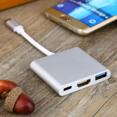 USB 3.1 Type-C to HDMI / USB 3.0 / Type-C Charging Adapter