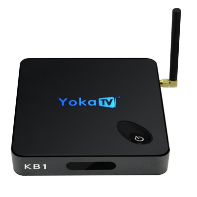 YOKATV KB1 Android Digital Receiver BoxTV Box &amp; Mini PC<br>YOKATV KB1 Android Digital Receiver Box<br><br>5G WiFi: Yes<br>Audio format: APE, AAC, WMA, DDP, WAV, TrueHD, FLAC, MP3, OGG<br>Bluetooth: Bluetooth4.0<br>Color: Black<br>Core: 2.0GHz<br>CPU: Amlogic S905X<br>Decoder Format: Xvid/DivX3/4/5/6, RealVideo8/9/10, HD MPEG1/2/4, H.265, H.264<br>External Subtitle Supported: No<br>GPU: Mali-450<br>HDMI Version: 1.0<br>Interface: AV, DC 5V, Optical, LAN, HDTV Out, HDMI, HDTV In<br>Language: Multi-language<br>Model: KB1<br>Other Functions: Others<br>Package Contents: 1 x YOKATV KB1 Android 6.0 TV Box, 1 x Remote Control, 1 x Power Adaptor, 1 x HDMI Cable, 1 x English Manual<br>Package size (L x W x H): 20.00 x 14.50 x 6.50 cm / 7.87 x 5.71 x 2.56 inches<br>Package weight: 0.6280 kg<br>Photo Format: BMP, JPEG, PNG, TIFF, GIF<br>Power Supply: Charge Adapter<br>Power Type: External Power Adapter Mode<br>Processor: S905X<br>Product size (L x W x H): 10.90 x 10.90 x 2.40 cm / 4.29 x 4.29 x 0.94 inches<br>Product weight: 0.2060 kg<br>RAM: 2G<br>RAM Type: DDR3<br>ROM: 16G<br>Support 5.1 Surround Sound Output: Yes<br>System: Android 6.0<br>System Bit: 64Bit<br>Type: TV Box<br>Video format: DAT, WMV, VOB, MPEG, TS, RMVB, RM, MOV, MKV, ISO, 1080P, 4K, 4K x 2K, ASF, FLV, AVI