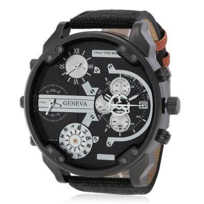 Geneva 482 Casual Multiple Movements Men Quartz Watch