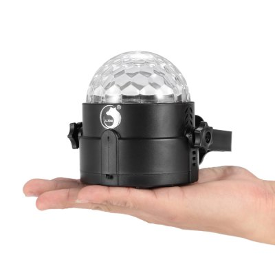 UKing ZQ - B16 RGBW Crystal Ball LightStage Lighting<br>UKing ZQ - B16 RGBW Crystal Ball Light<br><br>Beam Distance (m): 50-60<br>Body Color: Black,Orange,Silver<br>Brand: UKing<br>Function: For Decoration, For party<br>Illumination Field (sq.m.): 60-80<br>Laser Color: RGBW<br>Lifespan (hour): 10000h<br>Material: ABS<br>Model: ZQ-B16<br>Number of Batteries: 800mAh Li-polymer battery<br>Output Power (W): 8W<br>Package Contents: 1 x LED Stage Light, 1 x USB Cable, 1 x English Manual<br>Package size (L x W x H): 11.00 x 10.00 x 12.00 cm / 4.33 x 3.94 x 4.72 inches<br>Package weight: 0.246 kg<br>Product Size(L x W x H): 10.00 x 8.50 x 8.50 cm / 3.94 x 3.35 x 3.35 inches<br>Product weight: 0.143 kg<br>Shape: Ball Light<br>Total Emitters: 4<br>Type: LED Effects Stage Light<br>Voltage Type: DC 5V