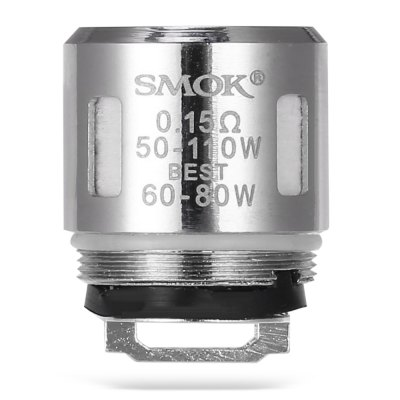 Original Smok V8 Baby - T8 0.15 ohm Coil HeadAccessories<br>Original Smok V8 Baby - T8 0.15 ohm Coil Head<br><br>Accessories type: Coils<br>Brand: SMOK<br>Material: Stainless Steel<br>Model: V8 Baby - T8<br>Package Contents: 5 x Smok V8 Baby - T8 0.15 ohm Coil Head<br>Package size (L x W x H): 13.80 x 6.30 x 3.00 cm / 5.43 x 2.48 x 1.18 inches<br>Package weight: 0.063 kg<br>Product size (L x W x H): 12.80 x 5.30 x 2.00 cm / 5.04 x 2.09 x 0.79 inches<br>Product weight: 0.008 kg<br>Resistance : 0.15 ohm<br>Type: Electronic Cigarettes Accessories