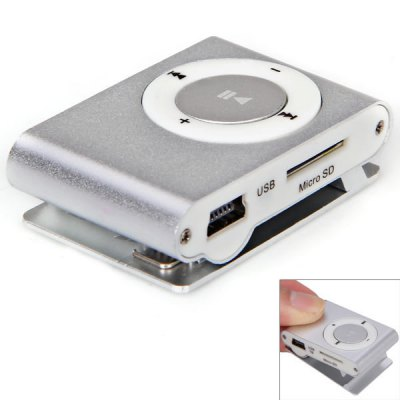 Mini MP3 Player with TF Card Slot/Back Metal Clip