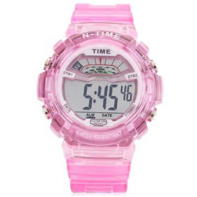 6306 Sports Date Day Display Backlight Alarm Clock Kids WatchKids Watches<br>6306 Sports Date Day Display Backlight Alarm Clock Kids Watch<br><br>Watches categories: Children table<br>Watch style: Trends in outdoor sports<br>Available color: Black,Blue,Pink,White,Yellow<br>Movement type: Digital watch<br>Shape of the dial: Round<br>Display type: Digital<br>Case material: ABS<br>Band material: Rubber<br>Clasp type: Pin buckle<br>Water resistance : 30 meters<br>Special features: Alarm Clock,Date,Day<br>Dial size: 4.5 x 4.5 x 1.6 cm / 1.77 x 1.77 x 0.63 inches<br>Band size: 26 x 2.2 cm / 10.24 x 0.87 inches<br>Wearable length: 16.7 - 23 cm / 6.57 - 9.06 inches<br>Product weight: 0.042 kg<br>Package weight: 0.078 kg<br>Product size (L x W x H): 26.00 x 4.50 x 1.60 cm / 10.24 x 1.77 x 0.63 inches<br>Package size (L x W x H): 27.00 x 5.50 x 2.60 cm / 10.63 x 2.17 x 1.02 inches<br>Package Contents: 1 x 6306 Sports Kids Watch