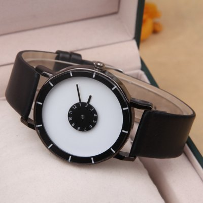 Layered Dial Plate PU Leather Quartz WatchLayered Dial Plate PU Leather Quartz Watch<br><br>People: Unisex table<br>Watch style: Casual<br>Movement type: Quartz watch<br>Display type: Analog-Digital<br>Case material: Alloys<br>Band material: PU Leather<br>Clasp type: Pin buckle<br>Package weight: 0.070 kg<br>Package size (L x W x H): 1.00 x 1.00 x 1.00 cm / 0.39 x 0.39 x 0.39 inches<br>Package Contents: 1 x Watch