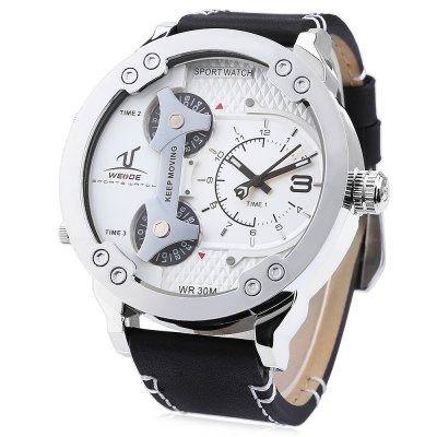WEIDE 1506 Men Silver Color Case Sports Quartz Watch
