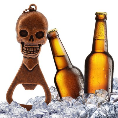 Creative Skull Beer Wine Opener Halloween GiftOpeners<br>Creative Skull Beer Wine Opener Halloween Gift<br><br>Available Color: Brown<br>Material: Zinc Alloy<br>Package Contents: 1 x Wine Opener<br>Package size (L x W x H): 14.00 x 7.20 x 1.80 cm / 5.51 x 2.83 x 0.71 inches<br>Package weight: 0.109 kg<br>Product size (L x W x H): 11.30 x 4.70 x 0.80 cm / 4.45 x 1.85 x 0.31 inches<br>Product weight: 0.073 kg