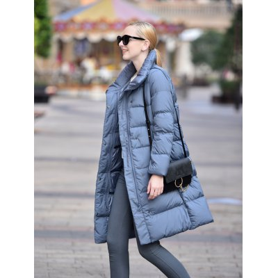 Stand-up Collar Long Down Jacket for WomenJackets &amp; Coats<br>Stand-up Collar Long Down Jacket for Women<br><br>Closure Type: Zipper, Zipper<br>Clothes Type: Down &amp; Parkas, Down &amp; Parkas<br>Collar: Stand Collar<br>Colors: Black,Dark Gray,Gray Blue,Purplish Blue,Red,Russet-red<br>Embellishment: Others, Others<br>Filling: White Duck Down, White Duck Down<br>Materials: Nylon<br>Package Content: 1 x Women Down Jacket, 1 x Women Down Jacket<br>Package Dimension: 50.00 x 40.00 x 20.00 cm / 19.69 x 15.75 x 7.87 inches, 50.00 x 40.00 x 20.00 cm / 19.69 x 15.75 x 7.87 inches<br>Package weight: 0.629 kg, 0.629 kg<br>Pattern Type: Others, Others<br>Product weight: 0.430 kg, 0.430 kg<br>Seasons: Autumn,Winter, Autumn,Winter<br>Shirt Length: Long, Long<br>Size1: 2XL,L,M,S,XL, 2XL,L,M,S,XL<br>Sleeve Length: Full, Full<br>Style: Fashion<br>Thickness: Thickening, Thickening<br>Type: Slim, Slim