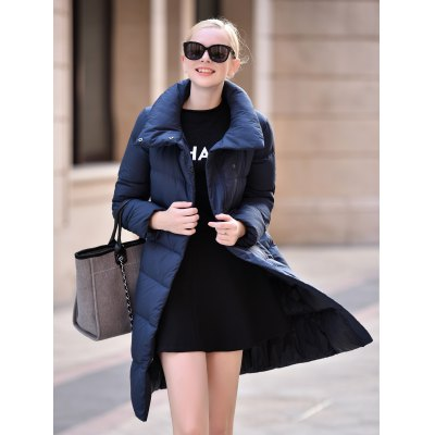 Stand-up Collar Long Down Jacket for WomenJackets &amp; Coats<br>Stand-up Collar Long Down Jacket for Women<br><br>Closure Type: Zipper<br>Clothes Type: Down &amp; Parkas<br>Collar: Stand Collar<br>Colors: Black,Dark Gray,Gray Blue,Purplish Blue,Red,Russet-red<br>Embellishment: Others<br>Filling: White Duck Down<br>Materials: Nylon<br>Package Content: 1 x Women Down Jacket<br>Package Dimension: 50.00 x 40.00 x 20.00 cm / 19.69 x 15.75 x 7.87 inches<br>Package weight: 0.629 kg<br>Pattern Type: Others<br>Product weight: 0.430 kg<br>Seasons: Autumn,Winter<br>Shirt Length: Long<br>Size1: 2XL,L,M,S,XL<br>Sleeve Length: Full<br>Style: Fashion<br>Thickness: Thickening<br>Type: Slim
