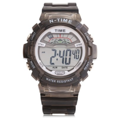 6306 Sports Date Day Display Backlight Alarm Clock Kids WatchKids Watches<br>6306 Sports Date Day Display Backlight Alarm Clock Kids Watch<br><br>Available Color: Black,Blue,Pink,White,Yellow<br>Band material: Rubber<br>Band size: 26 x 2.2 cm / 10.24 x 0.87 inches<br>Case material: ABS<br>Clasp type: Pin buckle<br>Dial size: 4.5 x 4.5 x 1.6 cm / 1.77 x 1.77 x 0.63 inches<br>Display type: Digital<br>Movement type: Digital watch<br>Package Contents: 1 x 6306 Sports Kids Watch<br>Package size (L x W x H): 27.00 x 5.50 x 2.60 cm / 10.63 x 2.17 x 1.02 inches<br>Package weight: 0.078 kg<br>Product size (L x W x H): 26.00 x 4.50 x 1.60 cm / 10.24 x 1.77 x 0.63 inches<br>Product weight: 0.042 kg<br>Shape of the dial: Round<br>Special features: Day, Date, Alarm Clock<br>Watch style: Trends in outdoor sports<br>Watches categories: Children table<br>Water resistance : 30 meters<br>Wearable length: 16.7 - 23 cm / 6.57 - 9.06 inches