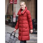 best Stand-up Collar Long Down Jacket for Women