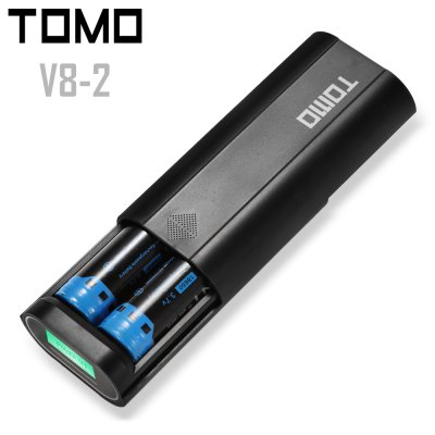 TOMO V8 - 2 USB Battery Charger Power Bank