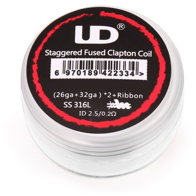UD 0.2 ohm Staggered Fused Clapton Coil