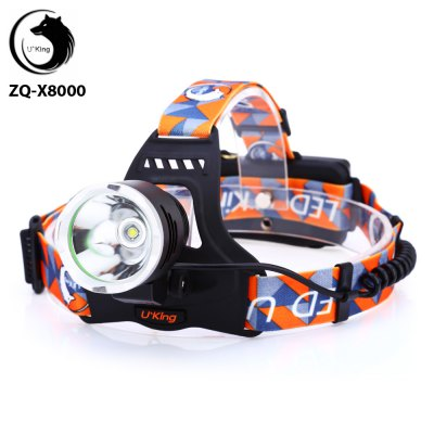 UKing ZQ - X8000 Cree XML T6 1200Lm 18650 Rechargeable LED Headlamp