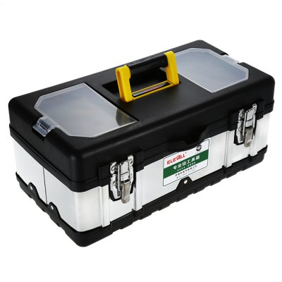 ELECALL 20 inch Household Portable Stainless Steel ToolboxSoldering Supplies<br>ELECALL 20 inch Household Portable Stainless Steel Toolbox<br><br>Brand: ELECALL<br>Material: Stainless Steel<br>Package Contents: 1 x Portable Stainless Steel Toolbox<br>Package size (L x W x H): 48.00 x 22.00 x 25.00 cm / 18.9 x 8.66 x 9.84 inches<br>Package weight: 2.365 kg<br>Product size (L x W x H): 44.00 x 19.00 x 22.00 cm / 17.32 x 7.48 x 8.66 inches<br>Product weight: 0.211 kg<br>Special function: Portable Stainless Steel Toolbox