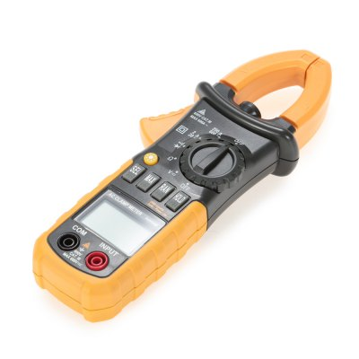 MS2008A Digital AC Clamp MeterMultimeters &amp; Fitting<br>MS2008A Digital AC Clamp Meter<br><br>AC Current: 2A / 20A / 200A / 600A<br>AC Voltage: 2V / 20V / 200V / 600V<br>Auto power off: Yes<br>Backlit Display: Yes<br>Data Hold: Yes<br>DC Voltage: 200mV / 2V / 20V / 200V / 600V<br>Input Impedance: 10Mohm<br>Low Battery Indicator: Yes<br>Model: MS2008A<br>Package Contents: 1 x Clamp Meter ( with Battery ), 1 x Pouch, 1 x Pair of Test Probe, 1 x English User Manual<br>Package size (L x W x H): 23.20 x 11.30 x 5.80 cm / 9.13 x 4.45 x 2.28 inches<br>Package weight: 0.3900 kg<br>Powered by: 3 x AAA Battery<br>Product size (L x W x H): 21.00 x 7.80 x 3.00 cm / 8.27 x 3.07 x 1.18 inches<br>Product weight: 0.2370 kg<br>Resistance : 200ohm / 2Kohm / 20Kohm / 200Kohm / 2Mohm / 20Mohm