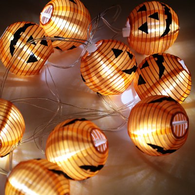 BRELONG Halloween LED String LightLED Strips<br>BRELONG Halloween LED String Light<br><br>Actual Lumens: 80LM<br>Battery: 2 x AA battery (not included)<br>Brand: BRELONG<br>CCT/Wavelength: 6000K<br>Features: Waterproof, IP-44<br>Input Voltage: DC 5V<br>LED Type: SMD-0603<br>Length: 2M<br>Number of LEDs: 10<br>Optional Light Color: White<br>Package Contents: 1 x LED String, 10 x Lantern, 10 x Holder<br>Package size (L x W x H): 11.50 x 9.00 x 10.00 cm / 4.53 x 3.54 x 3.94 inches<br>Package weight: 0.154 kg<br>Product weight: 0.084 kg<br>Rated Power (W): 1W<br>Type: LED String