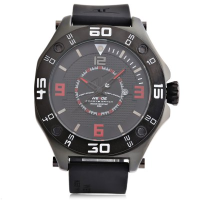WEIDE 1502 Casual Men Quartz WatchMens Watches<br>WEIDE 1502 Casual Men Quartz Watch<br><br>Available Color: Black,Blue,Orange,Red,White,Yellow<br>Band material: Silicone<br>Band size: 26.5 x 2.2 cm / 10.43 x 0.87 inches<br>Brand: Weide<br>Case material: Alloy<br>Clasp type: Pin buckle<br>Dial size: 4.8 x 4.8 x 1.7 cm / 1.89 x 1.89 x 0.67 inches<br>Display type: Analog<br>Movement type: Quartz watch<br>Package Contents: 1 x WEIDE 1502 Sports Men Quartz Watch, 1 x Box<br>Package size (L x W x H): 7.50 x 7.50 x 7.50 cm / 2.95 x 2.95 x 2.95 inches<br>Package weight: 0.216 kg<br>Product size (L x W x H): 26.50 x 4.80 x 1.70 cm / 10.43 x 1.89 x 0.67 inches<br>Product weight: 0.120 kg<br>Shape of the dial: Round<br>Watch style: Trends in outdoor sports<br>Watches categories: Male table<br>Water resistance : 30 meters<br>Wearable length: 19.2 - 24 cm / 7.56 - 9.45 inches