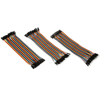 LDTR - PJ0002 Universal Dupont Line Set for ArduinoOther Accessories<br>LDTR - PJ0002 Universal Dupont Line Set for Arduino<br><br>Color: Colormix<br>Model: LDTR - PJ0002<br>Package Contents: 1 x 40-pin Male to Female Dupont Cable ( 20cm ), 1 x 40-pin Male to Male Dupont Cable ( 20cm ), 1 x 40-pin Female to Female Dupont Cable ( 20cm )<br>Package Size(L x W x H): 12.50 x 6.50 x 5.00 cm / 4.92 x 2.56 x 1.97 inches<br>Package weight: 0.120 kg<br>Product Size(L x W x H): 20.00 x 5.00 x 0.50 cm / 7.87 x 1.97 x 0.2 inches<br>Product weight: 0.098 kg