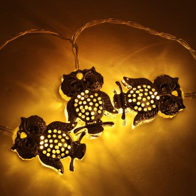 BRELONG Owl LED String LightBRELONG Owl LED String Light<br><br>Brand: BRELONG<br>Type: LED String<br>Features: IP-44,Waterproof<br>Length: 3M<br>LED type: SMD-0603<br>Number of LEDs: 20<br>Actual Lumens: 80LM<br>Optional Light Color: Warm White<br>Battery: 3 x AA battery (not included)<br>Input Voltage: DC 5V<br>Rated Power (W): 1W<br>Material: Aluminum Alloy,PC<br>Product weight: 0.080 kg<br>Package weight: 0.235 kg<br>Product size (L x W x H): 300.00 x 3.50 x 5.00 cm / 118.11 x 1.38 x 1.97 inches<br>Package size (L x W x H): 12.00 x 12.00 x 12.00 cm / 4.72 x 4.72 x 4.72 inches<br>Package Contents: 1 x BRLONG LED String Light