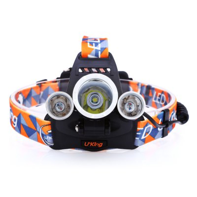UKing ZQ - X819 LED HeadlampUKing ZQ - X819 LED Headlamp<br><br>Headlight brand: UKing<br>Model: ZQ-X819<br>Function: Camping,EDC,Exploring,Household Use,Night Riding,Walking<br>Feature: Angle adjustment,Can be used as headlamp or bicycle light,Cooling Slot of High Efficiency,Dual Light-source,Power indicator light<br>Luminous Flux: 2000LM<br>Main Lamp Beads: Cree R5,Cree XM-L T6<br>Beads Number: 3<br>Mode: 4 (White; Purple; White + Purple; White + Purple Strobe)<br>Battery Type: 18650<br>Battery Quantity: 2 (included)<br>Power Source: Battery<br>Working Voltage: 3.7V<br>Reflector: Aluminum Smooth Reflector<br>Beam Distance: 300-400m<br>Working Time: Max 3h<br>Waterproof: IPX-4<br>Mode Memory: Yes<br>Rechargeable: Yes<br>Available Light Color: White + Purple<br>Color: Black<br>Body Material: Aluminium Alloy<br>Product weight: 0.185 kg<br>Package weight: 0.395 kg<br>Product size (L x W x H): 7.80 x 5.50 x 3.50 cm / 3.07 x 2.17 x 1.38 inches<br>Package size (L x W x H): 11.50 x 11.00 x 10.00 cm / 4.53 x 4.33 x 3.94 inches<br>Package Contents: 1 x LED Headlamp, 1 x Headband, 2 x 4200mAh 18650 Battery, 1 x 100 - 250V EU Plug AC Charger, 1 x Car Charger, 1 x English Manual