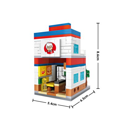 LOZ Street View Architecture Building Brick - 303pcs