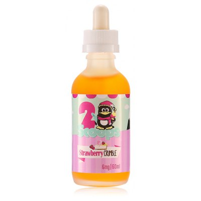 Original 2 Scoops Strawberry Crumble E-liquid for E Cigarette