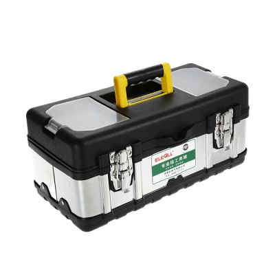 ELECALL 17 inch Household Portable Stainless Steel ToolboxSoldering Supplies<br>ELECALL 17 inch Household Portable Stainless Steel Toolbox<br><br>Brand: ELECALL<br>Material: Stainless Steel<br>Package Contents: 1 x ELECALL Toolbox<br>Package size (L x W x H): 43.00 x 20.00 x 21.00 cm / 16.93 x 7.87 x 8.27 inches<br>Package weight: 1.830 kg<br>Product size (L x W x H): 40.00 x 17.00 x 18.00 cm / 15.75 x 6.69 x 7.09 inches<br>Product weight: 1.770 kg<br>Special function: Toolbox