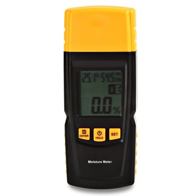 GM610 LCD Digital Wood Moisture Meter with Integral Pins