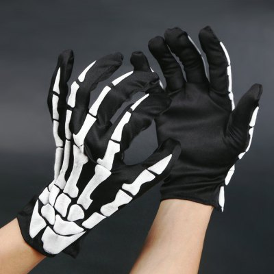 Paired Creative Bone Pattern Halloween GlovesHalloween Supplies<br>Paired Creative Bone Pattern Halloween Gloves<br><br>Package Contents: 1 x Pair of Halloween Gloves<br>Package size (L x W x H): 28.90 x 12.00 x 1.00 cm / 11.38 x 4.72 x 0.39 inches<br>Package weight: 0.0500 kg<br>Product weight: 0.0300 kg