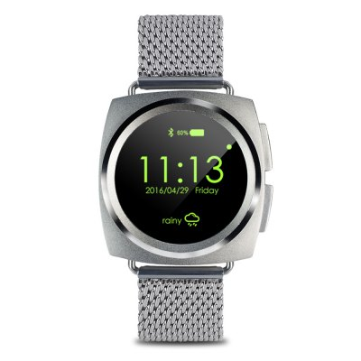 A11 Bluetooth 4.0 Heart Rate Monitor Smart WatchSmart Watches<br>A11 Bluetooth 4.0 Heart Rate Monitor Smart Watch<br><br>Alert type: Ring, Vibration<br>Available Color: Black,Rose Gold,Silver<br>Band material: Steel<br>Band size: 26.2 x 2.2 cm / 10.31 x 0.87 inches<br>Battery  Capacity: 220mAh<br>Bluetooth calling: Call log sync,Dialing,Phonebook<br>Bluetooth Version: Bluetooth 4.0<br>Built-in chip type: MTK2502<br>Case material: Alloy<br>Charging Time: About 2hours<br>Compatability: Android 4.3 / iOS 7.0 and above systems<br>Compatible OS: Android, IOS<br>Dial size: 4.3 x 4.3 x 1.3 cm / 1.69 x 1.69 x 0.51 inches<br>Find phone: Yes<br>Groups of alarm: 5<br>Health tracker: Heart rate monitor,Pedometer,Sedentary reminder,Sleep monitor<br>Locking screen : 4<br>Messaging: Message reminder<br>Notification: Yes<br>Notification type: Facebook, Twitter, WhatsApp<br>Operating mode: Touch Screen, Press button<br>Other Function: Calculator, Calender, Stopwatch, Voice recorder, Alarm<br>Package Contents: 1 x A11 Smart Watch, 1 x USB Charging Cable, 1 x English User Manual<br>Package size (L x W x H): 27.40 x 7.30 x 3.50 cm / 10.79 x 2.87 x 1.38 inches<br>Package weight: 0.232 kg<br>People: Female table,Male table<br>Product size (L x W x H): 26.20 x 4.30 x 1.30 cm / 10.31 x 1.69 x 0.51 inches<br>Product weight: 0.060 kg<br>RAM: 128MB<br>Remote control function: Remote music, Remote Camera<br>ROM: 64MB<br>Screen resolution: 240 x 240<br>Screen size: 1.22 inch<br>Shape of the dial: Round<br>Standby time: About 100 - 120 hours<br>Type of battery: Li-ion Battery<br>Wearing diameter: 18.8 - 23.7 cm / 7.40 - 9.33 inches