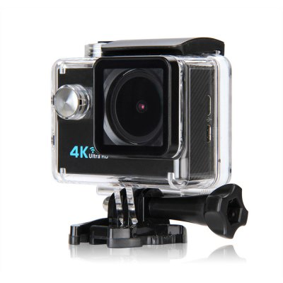 Q6H 4K 2.0 inch LCD Display WiFi Action CameraAction Cameras<br>Q6H 4K 2.0 inch LCD Display WiFi Action Camera<br><br>Model: Q6H<br>Type: Sports Camera<br>Type of Camera: 4K<br>Chipset Name: Allwinner<br>Chipset: Allwinner V3<br>Max External Card Supported: TF 64G (not included)<br>Screen size: 2.0inch<br>Screen type: LCD<br>Battery Type: External<br>Capacity: 900mAh<br>Charge way: AC adapter,Car charger,USB charge by PC<br>Working Time: Max 90 minutes<br>Wide Angle: 173 degree wide angle lens<br>Camera Pixel : 16MP<br>Decode Format: H.264<br>Video format: MOV<br>Video Resolution: 1080P(60fps),2.7K (30fps),4K (30fps),720P (90fps)<br>Video Frame Rate: 30FPS,60FPS,90fps<br>Image Format : JPEG<br>Audio System: Built-in microphone/speaker (AAC)<br>White Balance Mode: Auto,Cloudy,Fluorescent,Incandescent,Sunny<br>WIFI: Yes<br>WiFi Function: Remote Control<br>Loop-cycle Recording : Yes<br>Time Stamp: Yes<br>Interface Type: HDMI,Micro USB,TF Card Slot,TV-Out<br>Language: Deutsch,English,French,Italian,Japanese,Korean,Polski,Portuguese,Russian,Simplified Chinese,Spanish,Traditional Chinese<br>Product weight: 0.063 kg<br>Package weight: 0.575 kg<br>Product size (L x W x H): 5.90 x 4.00 x 2.30 cm / 2.32 x 1.57 x 0.91 inches<br>Package size (L x W x H): 27.00 x 16.00 x 6.00 cm / 10.63 x 6.3 x 2.36 inches<br>Package Contents: 1 x Q6H Action Camera, 1 x Waterproof Housing, 1 x  Power Adapter, 1 x Handle Bar Mount, 7 x Mount, 1 x Clip, 2 x Helmet Mount, 4 x Bandage, 2 x Adhesive, 1 x Metal Tether, 2 x Plastic Tether, 1 x Pro