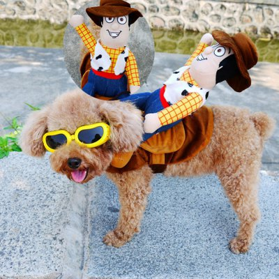 Funny Cowboy Design Pet Dog Cloth