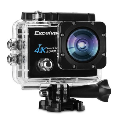 Excelvan Q8 4K 2 inch Display WiFi Action CameraAction Cameras<br>Excelvan Q8 4K 2 inch Display WiFi Action Camera<br><br>Aerial Photography: No<br>Anti-shake: No<br>Audio System: Built-in microphone/speaker (AAC)<br>Auto Focusing: No<br>Battery Capacity (mAh): 900mAh<br>Battery Type: External<br>Brand: EXCELVAN<br>Camera Timer: Yes<br>Charge way: AC adapter,Car charger,USB charge by PC<br>Charging Time: 2h<br>Chipset: Allwinner V3<br>Chipset Name: Allwinner<br>Decode Format: H.264<br>Features: Cool<br>Function: Camera Timer, Loop-cycle Recording<br>HDMI Output: Yes<br>Image Format : JPEG<br>Interface Type: HDMI, TF Card Slot, Micro USB<br>Language: Deutsch,English,French,Italian,Japanese,Korean,Polski,Portuguese,Russian,Simplified Chinese,Spanish,Traditional Chinese<br>Lens Diameter: 17mm<br>Loop-cycle Recording : Yes<br>Max External Card Supported: TF 64G (not included)<br>Microphone: Built-in<br>Model: Q8<br>Night vision : No<br>Package Contents: 1 x Q8 Action Camera, 1 x Waterproof Housing, 1 x Power Adapter, 1 x USB Cable, 1 x Handle Bar Mount, 7 x Mount, 1 x Clip, 2 x Helmet Mount, 4 x Bandage, 2 x Adhesive, 1 x Metal Tether, 2 x Plastic Te<br>Package size (L x W x H): 25.40 x 13.30 x 6.70 cm / 10 x 5.24 x 2.64 inches<br>Package weight: 0.738 kg<br>Product size (L x W x H): 5.90 x 4.00 x 2.30 cm / 2.32 x 1.57 x 0.91 inches<br>Product weight: 0.060 kg<br>Screen resolution: 320x240<br>Screen size: 2.0inch<br>Screen type: LCD<br>Standby time: 70 minutes<br>Time lapse: Yes<br>Time Stamp: Yes<br>Type: Sports Camera<br>Type of Camera: 4K<br>Video format: MOV<br>Video Frame Rate: 120fps,30FPS,60FPS<br>Video Resolution: 1080P(30fps),1080P(60fps),2.7K (30fps),4K (30fps),720P (120fps)<br>Waterproof: No<br>Waterproof Rating : No<br>White Balance Mode: Auto, Incandescent, Sunny, Cloudy, Fluorescent<br>Wide Angle: 170 degree wide angle<br>WIFI: Yes<br>WiFi Distance : 5M<br>WiFi Function: Remote Control<br>Working Time: Max 90 minutes
