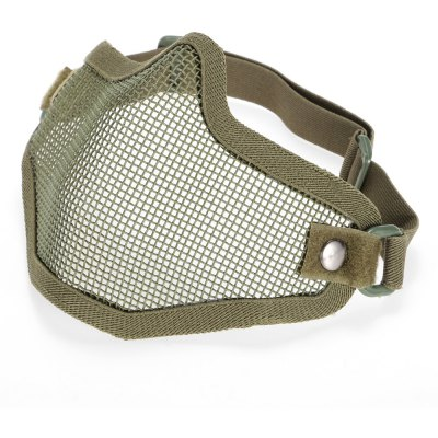 Steel Mesh Half-face Mask for CS Military Training Games