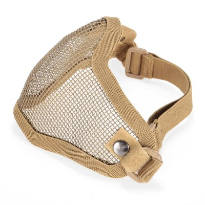Steel Mesh Half-face Mask for CS Military Training GamesOther Accessories<br>Steel Mesh Half-face Mask for CS Military Training Games<br><br>For: CS / Outdoor Survival<br>Functions: Protection<br>Package Contents: 1 x Half-face Mask<br>Package size (L x W x H): 20.00 x 15.00 x 14.00 cm / 7.87 x 5.91 x 5.51 inches<br>Package weight: 0.130 kg<br>Product size (L x W x H): 18.00 x 14.00 x 13.00 cm / 7.09 x 5.51 x 5.12 inches<br>Product weight: 0.102 kg<br>Size: One Size<br>Type: Half-face Mask