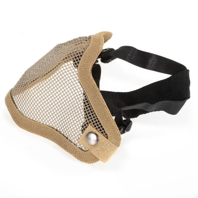Steel Mesh Half-face Mask for CS Military Outdoor GamesOther Accessories<br>Steel Mesh Half-face Mask for CS Military Outdoor Games<br><br>For: CS / Outdoor Survival<br>Functions: Protection<br>Package Contents: 1 x Half-face Mask<br>Package size (L x W x H): 20.00 x 15.00 x 14.00 cm / 7.87 x 5.91 x 5.51 inches<br>Package weight: 0.140 kg<br>Product size (L x W x H): 18.00 x 14.00 x 12.00 cm / 7.09 x 5.51 x 4.72 inches<br>Product weight: 0.108 kg<br>Size: One Size<br>Type: Half-face Mask