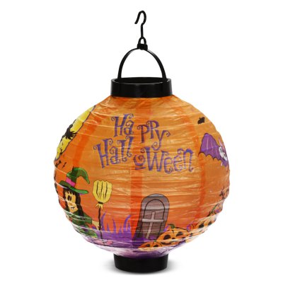 BRELONG LED Halloween Paper Lantern AAA Battery Operated