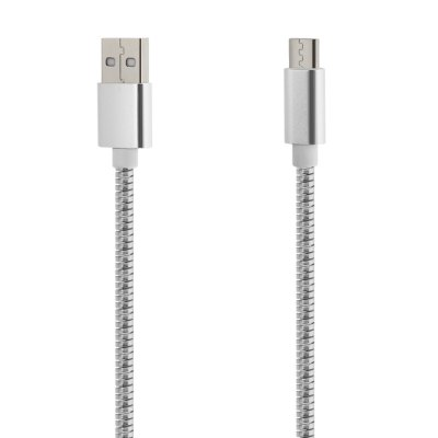 Steel Wire Micro USB to USB 2.0 Data Sync Charging Cable - 1m