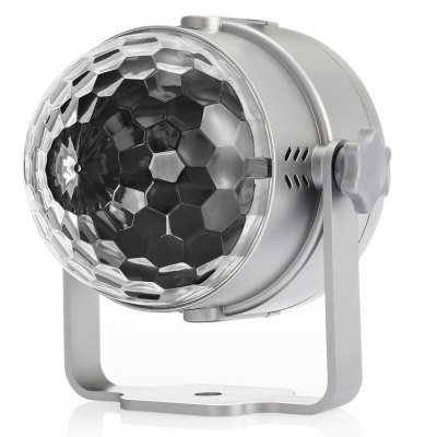UKing ZQ - B12 Crystal Ball Stage LightStage Lighting<br>UKing ZQ - B12 Crystal Ball Stage Light<br><br>Brand: UKing<br>Model: ZQ-B12<br>Type: LED Effects Stage Light<br>Total Emitters: 3<br>Laser Color: RGB Light<br>Beam Distance (m): 30-40<br>Illumination Field (sq.m.): 30-60<br>Plug Type: EU plug,US plug<br>Voltage Type: AC 100-240V 50-60Hz<br>Lifespan (hour): 10000h<br>Function: For Decoration,For party<br>Shape: Ball Light<br>Body Color: Black,Orange,Silver<br>Material: ABS<br>Control Mode: Auto Mode,Remote Control,Voice-activated<br>Product weight: 0.220 kg<br>Package weight: 0.300 kg<br>Product Size(L x W x H): 10.00 x 8.50 x 8.50 cm / 3.94 x 3.35 x 3.35 inches<br>Package size (L x W x H): 11.00 x 10.00 x 12.00 cm / 4.33 x 3.94 x 4.72 inches<br>Package Contents: 1 x LED Stage Light, 1 x Remote Controller ( with Button Battery ), 1 x English Manual