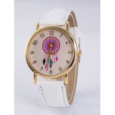 Bohemian Leaf PU Leather Quartz Watch